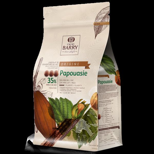 "Vollmilchkuvertüre ""Cacao Barry Papouasie 35%"""