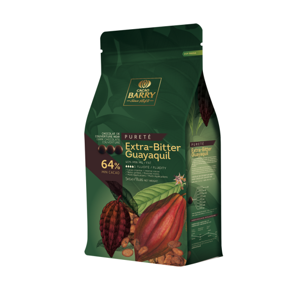 """Dunkle Kuvertüre """"Cacao Barry Extra-Bitter Guayaquil 64%"""