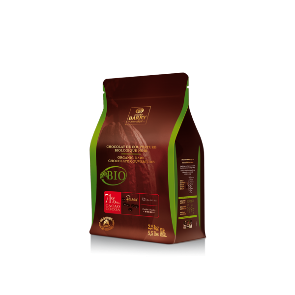 """Dunkle Kuvertüre """"Cacao Barry Organic dark couverture 71%"""""""