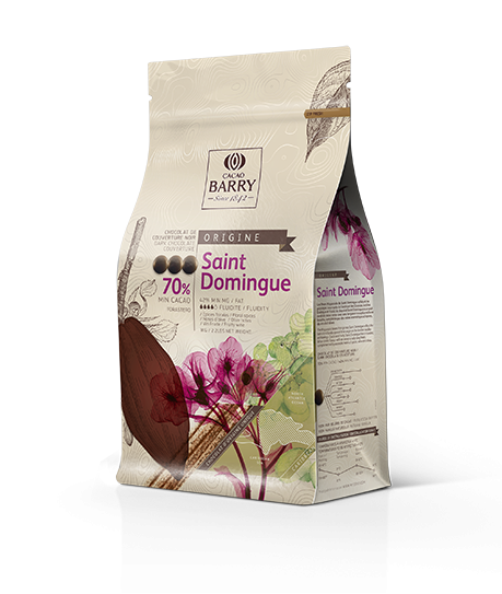 "Dunkle Kuvertüre ""Cacao Barry Saint Domingue 70%"